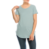 Urban Diction 3 Pack Women's Basic Solid Scoop Neck Short Sleeve T Shirts - W.A.Y
