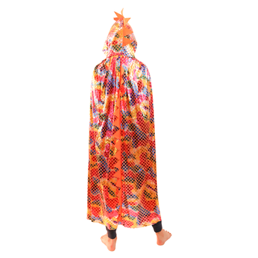 Kids Size Bright Dinosaur/Dragon Scales Hooded Cape | Girl Story | Kids Costumes