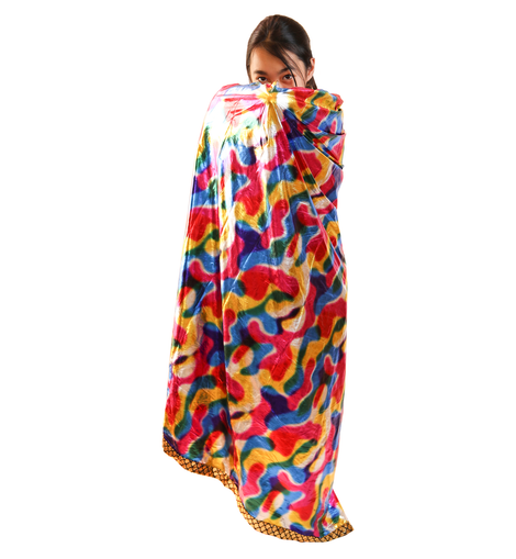 Kids Size Colorful Magical Magicians High Collar Cape - W.A.Y