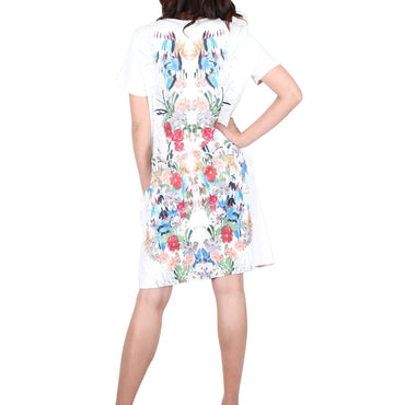 Way Beyoung Women's Short Sleeve Stretch Flower Print Dress | Way Beyoung | Dresses
