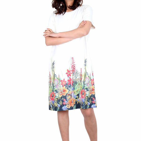 Way Beyoung Women's Short Sleeve Stretch Blossom Floral Print Dress | Way Beyoung | Dresses