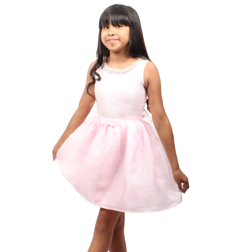 Girl Story - Pink Tutu Short Sleeve Knee High Girls Dress | Girl Story | Girls Dress