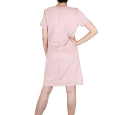 Way Beyoung Women's Beige Rose Short Sleeve Knee High Dress | Way Beyoung | Dresses