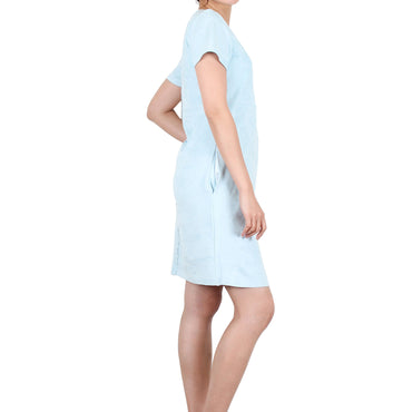 Way Beyoung Women's Sky Stretch Short Sleeve Knee High Dress - W.A.Y