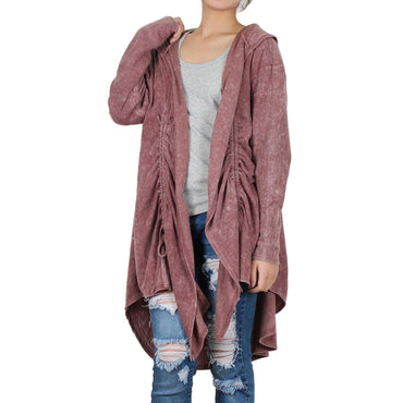 Way Beyoung Womens Rose Long Sleeve Open Front Cardigan - W.A.Y