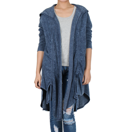 Way Beyoung Womens Navy Long Sleeve Open Front Cardigan | Way Beyoung | Cardigans