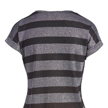 Urban Diction Silver & Black Stripe Tee | Urban Diction | Knits & Tees