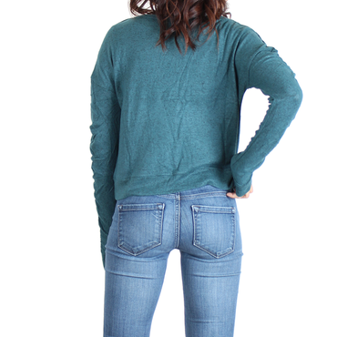 Urban Diction Hunter Green Long-Sleeve Sweater | Urban Diction | Pullovers
