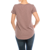 Urban Diction 4 Pack Neutral Curved-Hem Crew Neck Basic Tees | Urban Diction | Knits & Tees