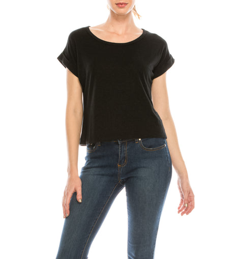 Urban Diction Black Dolman Tee | Urban Diction | Knits & Tees