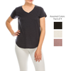 Urban Diction 4 Pack Women's Neutral Colored V-neck T-Shirts | Urban Diction | Knits & Tees