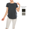 Urban Diction 3 Pack Women's Tri-Blend Crew Neck Solid Color Short Sleeve Tees Basic - W.A.Y