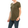 Urban Diction 4 Pack Women's Soft Stretch Scoop Neck Pocket Short Sleeve Tees - W.A.Y