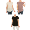 Urban Diction 3 Pack Women's Comfort Stretch Solid Scoop Neck Short Sleeve T Shirts | Urban Diction | Knits & Tees