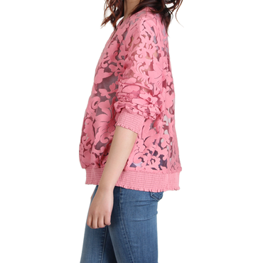 Urban Diction Pink Floral Lace Jacket | Urban Diction | Jackets