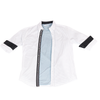 Urban Diction Men's White/ Blue Long Sleeve Button-Up Collared Shirt | Urban Diction | Men's Shirts