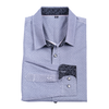 Urban Diction Men's Navy/Grey Cross Stripes Long Sleeve Button-Up Collared Shirt - W.A.Y