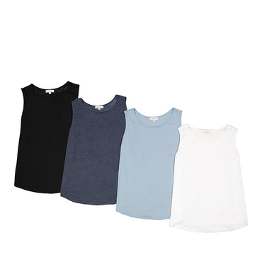 Urban Diction 4 Pack Scoop Neck Tri-Blend Sleeveless Tank Plus Size | Urban Diction | Knits & Tees