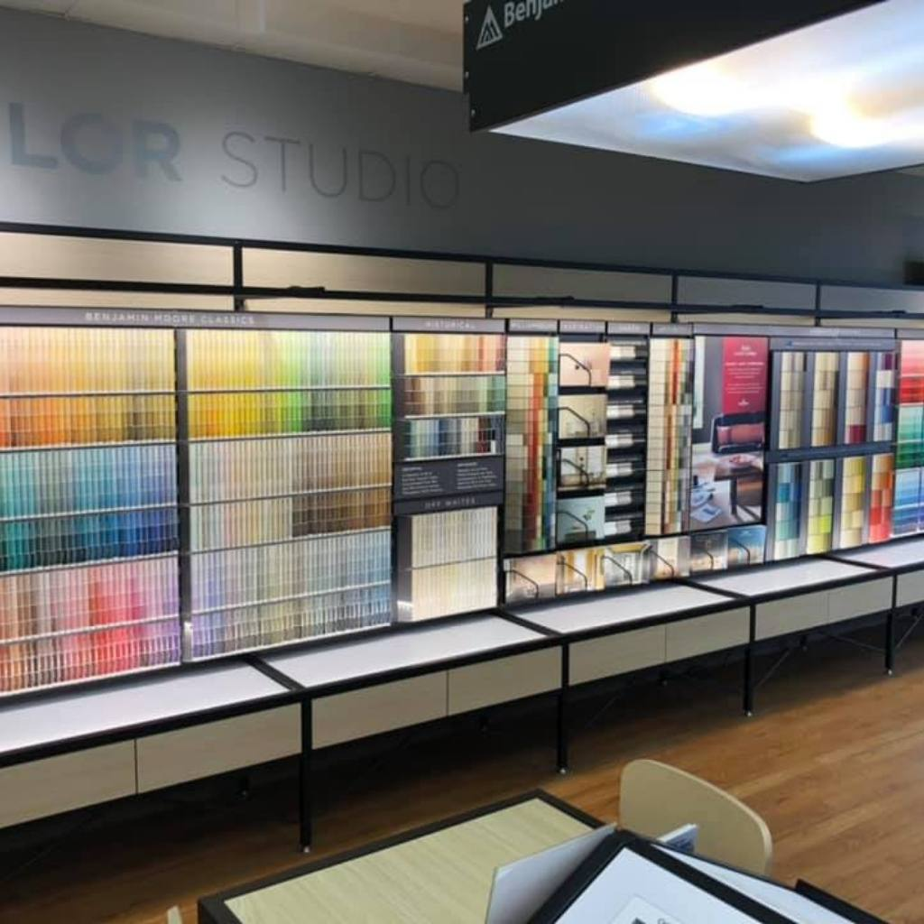 Anderson Paint Company visit us in store paint chips on wall