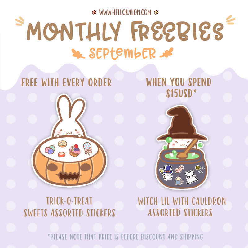 SEPTEMBER FREEBIES