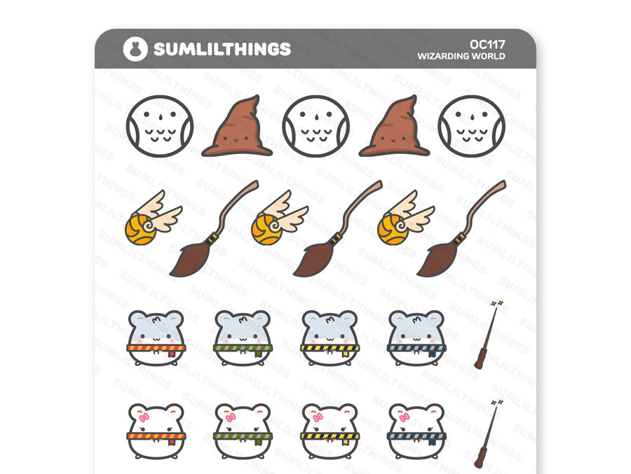 (OC117) Wizarding World Oatmeal Cinnamon Stickers