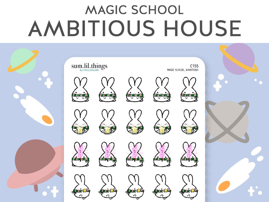 (C155) Ambitious Magic House Lil Stickers