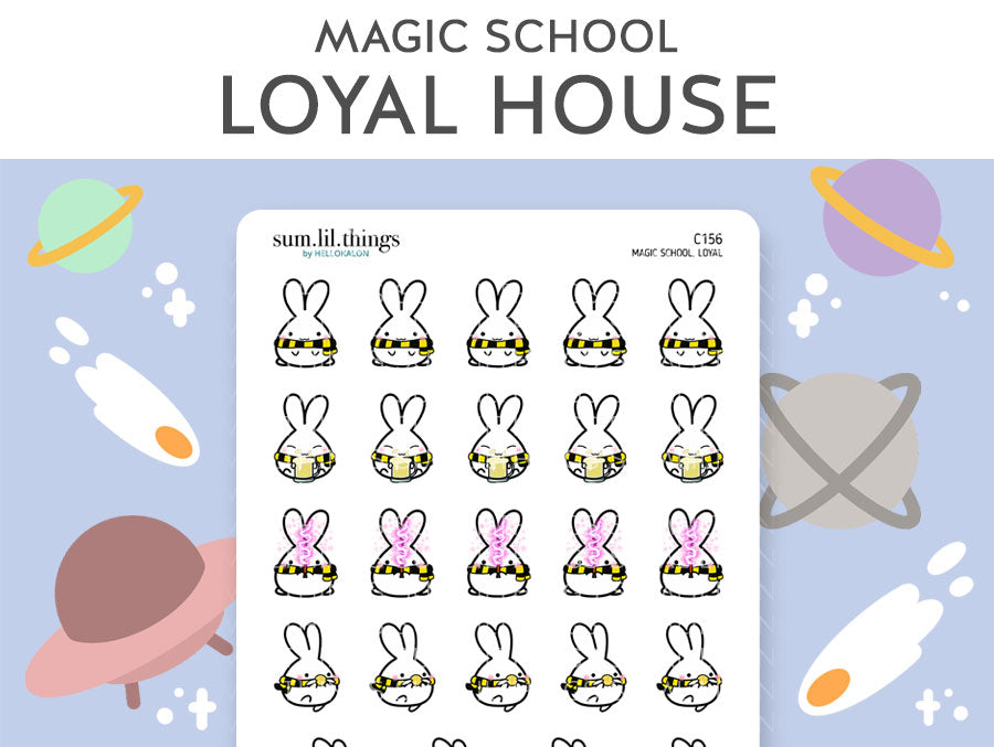 (C156) Loyal Magic House Lil Stickers
