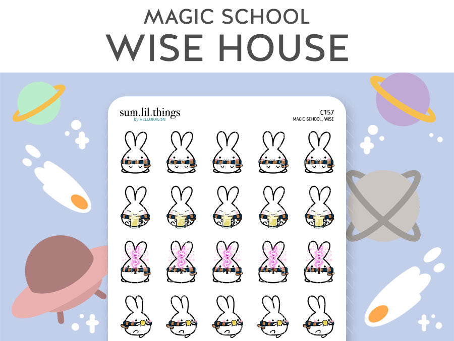 (C157) Wise Magic House Lil Stickers