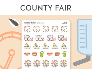 (OC162) County Fair Stickers