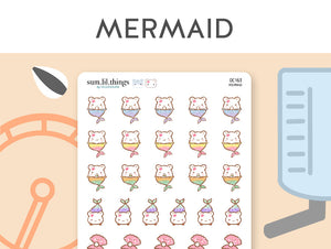 (OC163) Mermaid Cinnamon Stickers