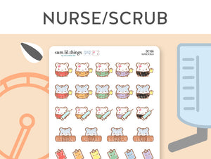 (OC166) Scrubs Nurse Doctor Stickers