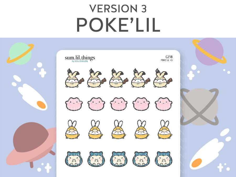 (C218) Poke'Lil Part 3 Stickers