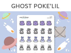 (C219) Ghost Poke'Lil Stickers