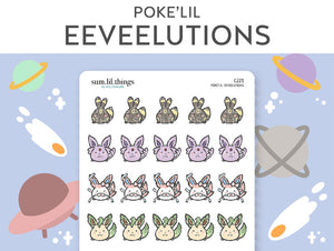 (C223) Poke'lil Eeveelutions Stickers