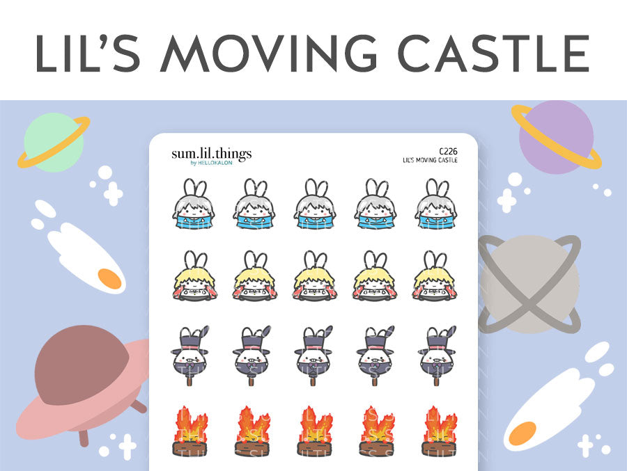 (C226) Lil's Moving Castle Stickers