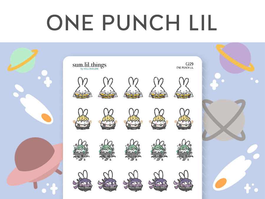 (C229) One Punch Lil Stickers