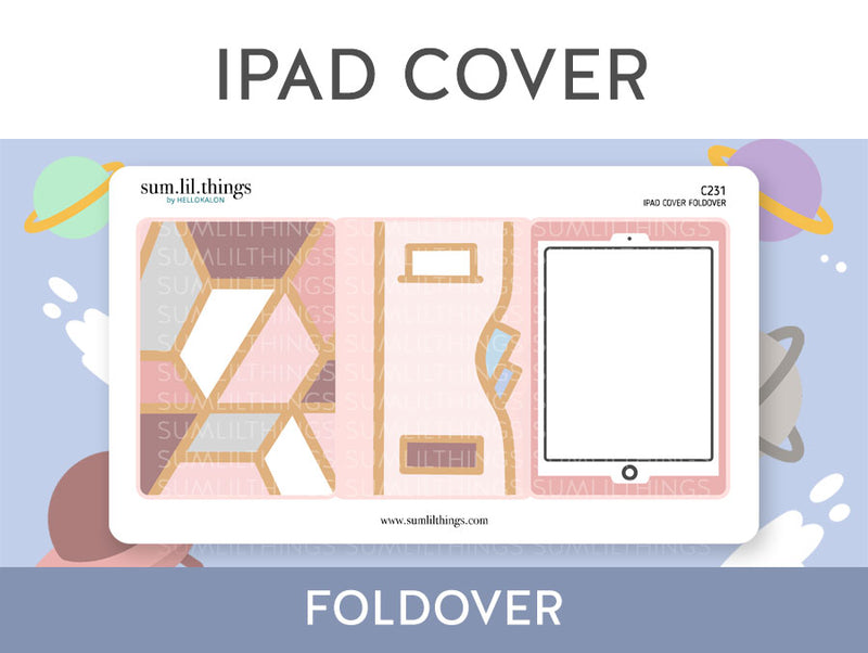 IPAD Cover Foldable Stickers