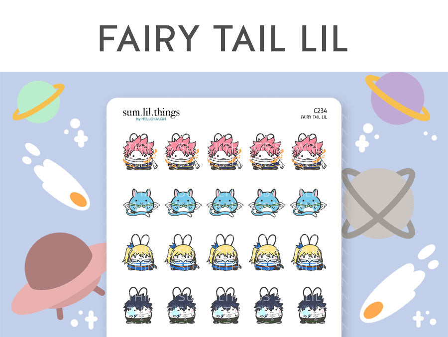 (C234) Fairy Tail Lil Stickers