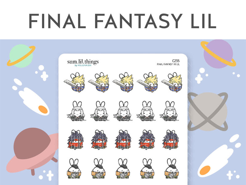 Final Fantasy VII Lil Stickers