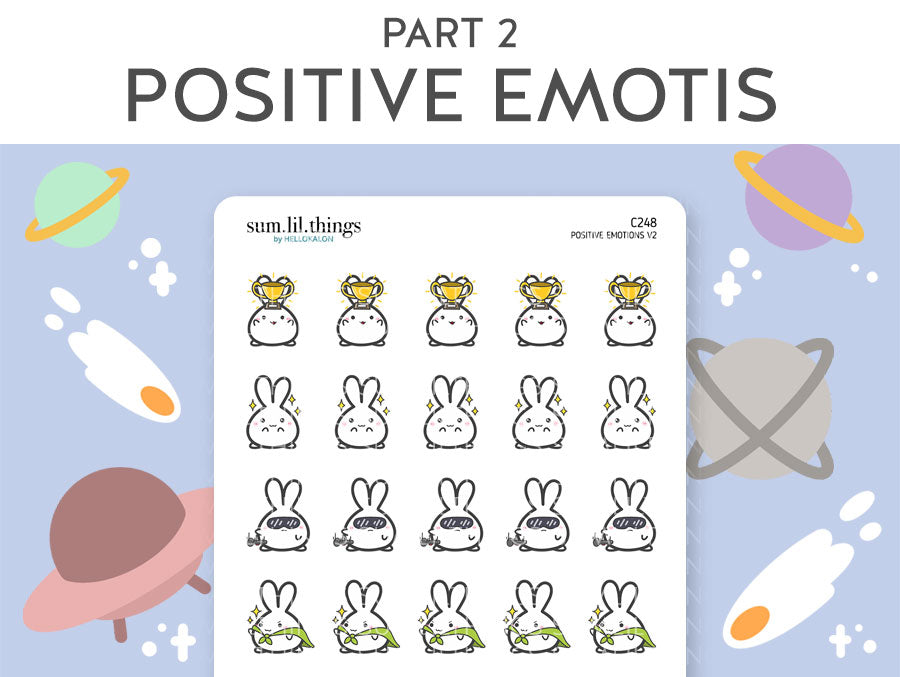 (C248) Positive Emotions 2.0 Lil Stickers