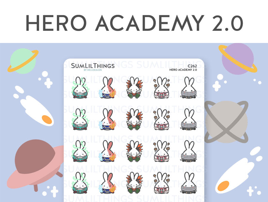 (C262) Hero Academy Lil 2.0 Stickers