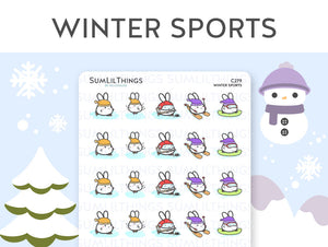(C279) Winter Sports Stickers