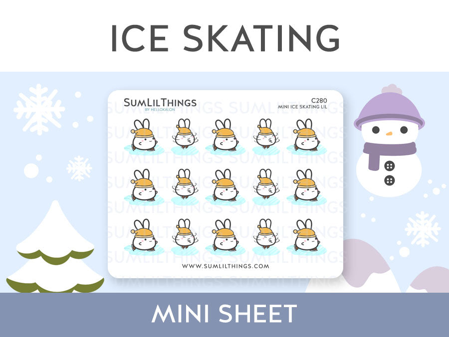 (C280) Mini Ice Skating Lil Stickers