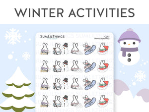 (C287) Winter Activities Stickers
