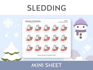 (C289) Mini Sledding Lil Stickers