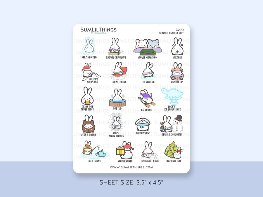 (C290) Winter Bucket List Stickers