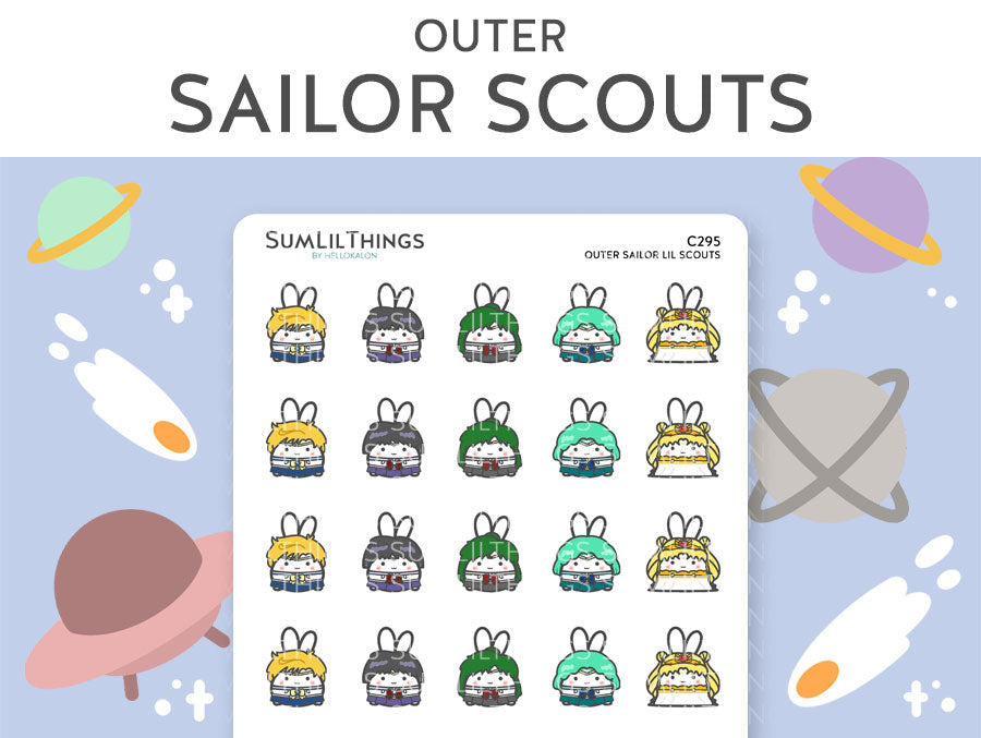(C295) Outer Sailor Lil Scouts Stickers