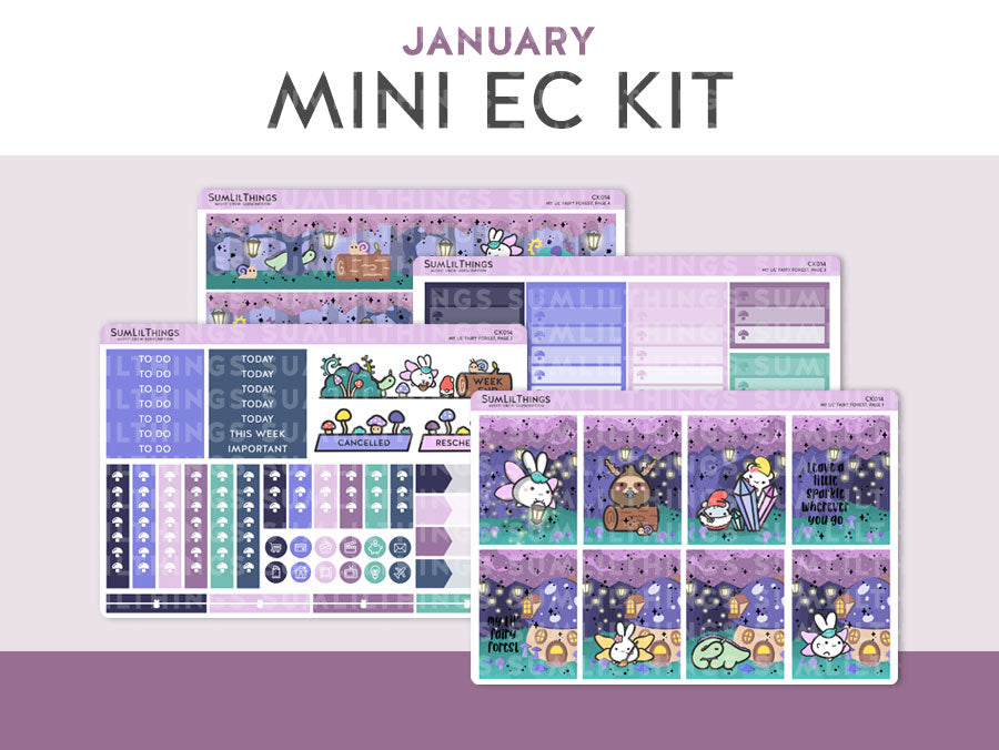 (CK014) January Fairy Forest Foiled Mini Kit