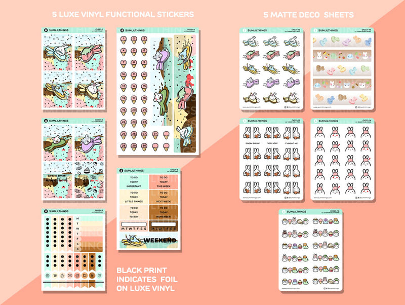 CK021 - Sugar Rush - SILVER BUBBLE FOILED - Deco Kit (10 Pages) || July Subscription