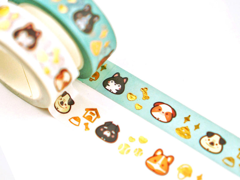 Inugiri Washi Tape - Gold Foiled